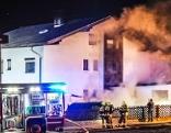 Feuerwehreinsatz rauchendes Wohnhaus