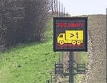 Schild der Lkw-Gewichtskontrolle