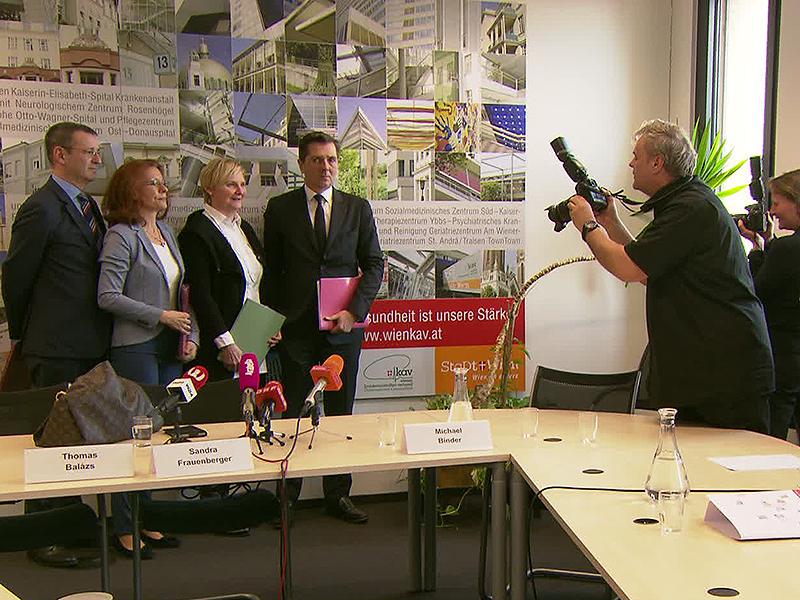 Fotografen mit Sandra Frauenberger, Thomas Balazs, Evelyn Kölldorfer-Leitgeb und Michael Binder