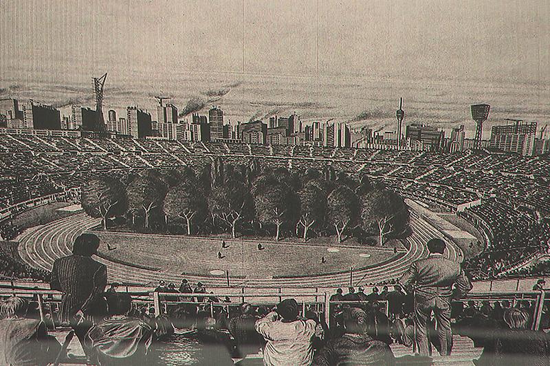 Stadion Projekt Klaus Littmann  Wald