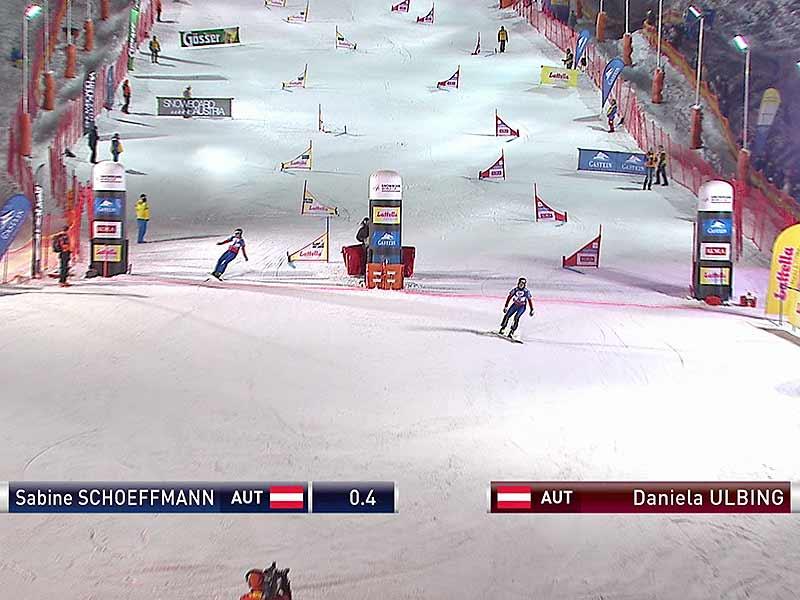 Snowboarderin Sabine Schöffmann