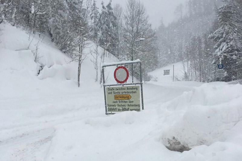 Schnee in Annaberg