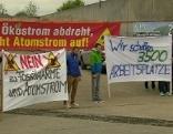 Biogasanlage Gosdorf Mahnwache Transparent
