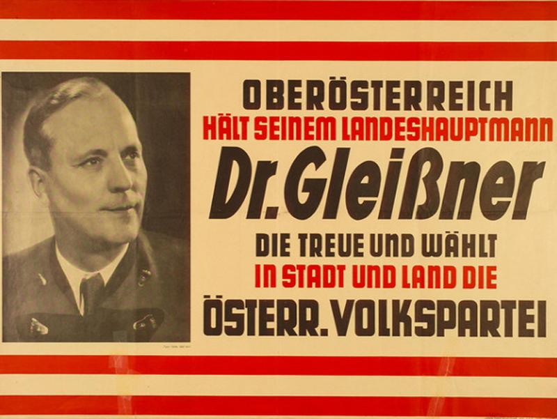 Heinrich Gleißner Wahlplakat 1949