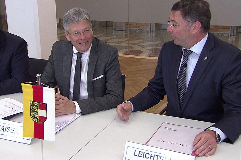 Peter Kaiser Jörg Leichtfried Delegation