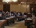 Letzte Sitzung des Landtages im Landhaus in Wien
