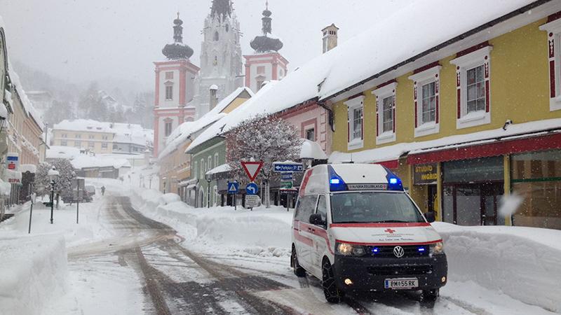 Rotes Kreuz Mariazell Schnee