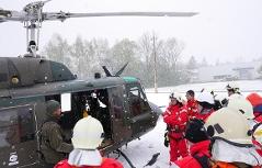 Bundesheer Feuerwehren Flughelfer Hubschrauber