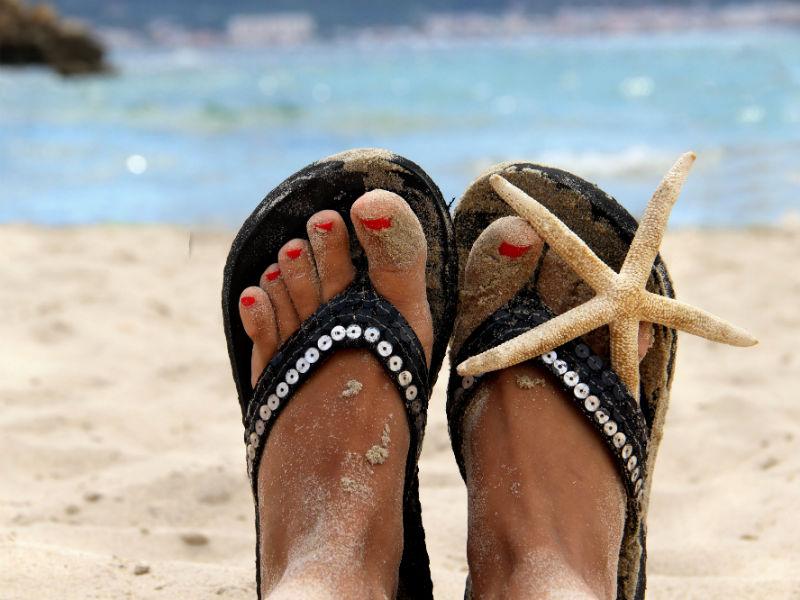 Füße Strand
