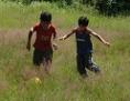 Děti v romské osadě v Rudňanech