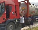 Technische Kontrollen bei einem Gefahrenguttransport