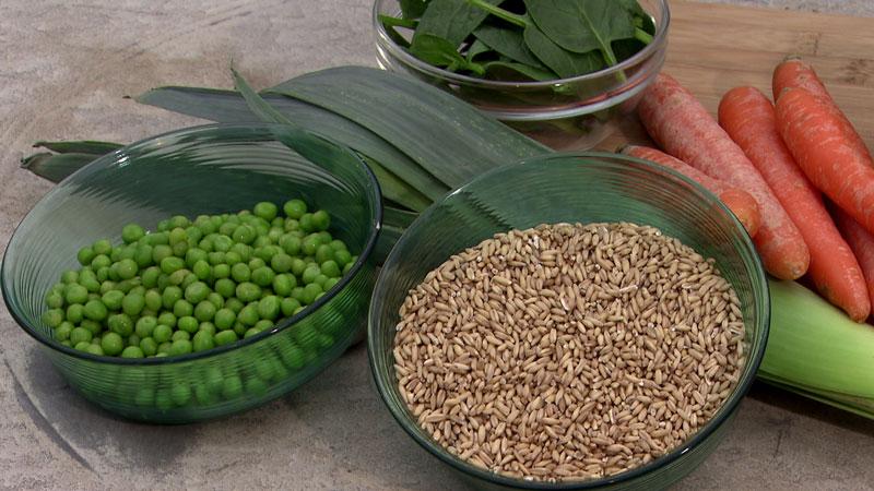 Hülsenfrüchte und Vollkorngetreide