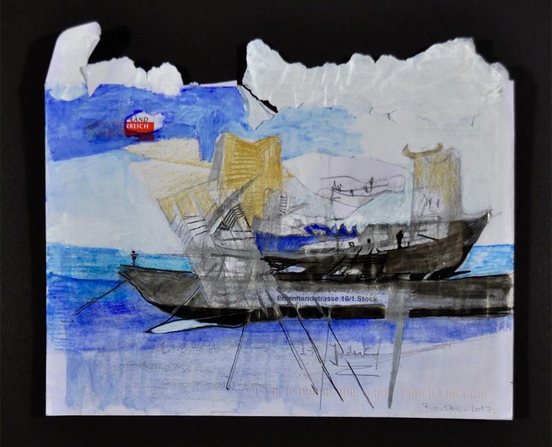 """""""Galeere, Land in Sicht"""" von Robert Oltay"""