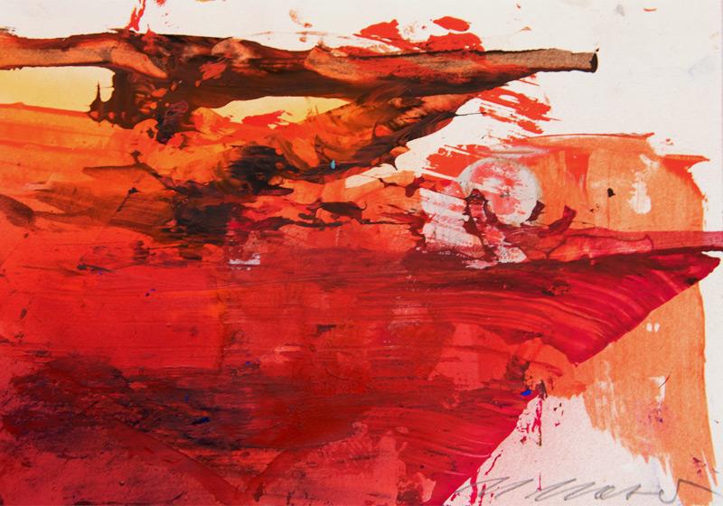 Mischtechnik auf Papier von Maria Moser