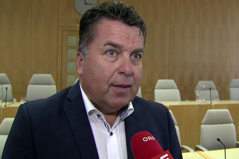 Verkehrslandesrat Hans Mayr im ORF Interview