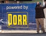 Ein Banner von Porr