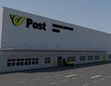 Geplantes Verteilzentrum der Post