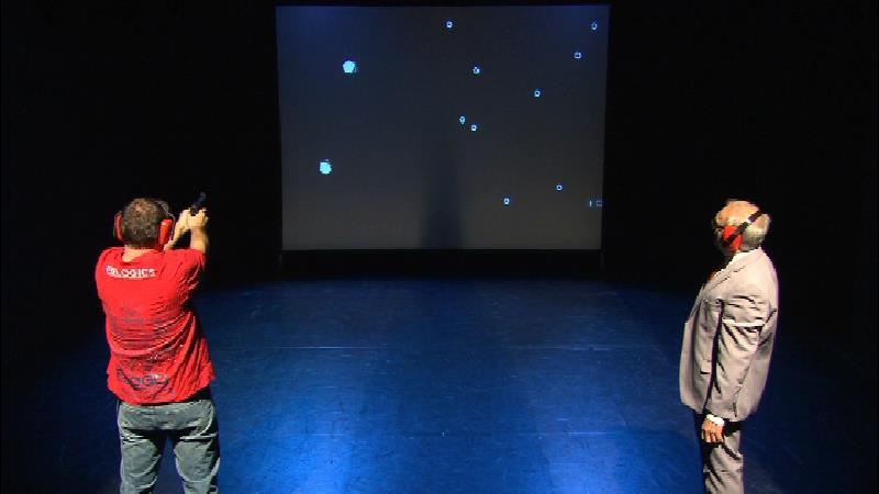 Protagonisten auf der Bühne