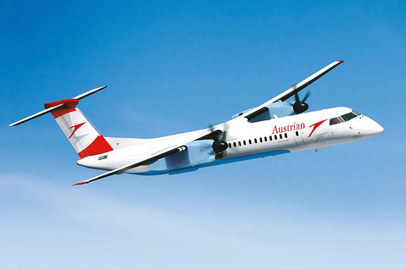 Bombadier Q400 AUA Flugzeug