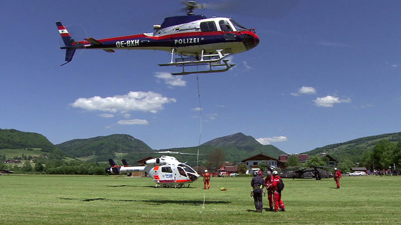 Hubschrauber-Großübung Adnet