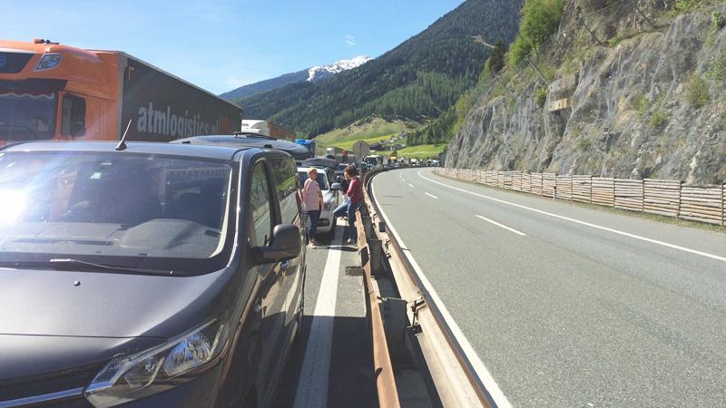 Stau auf der Brennerautobahn