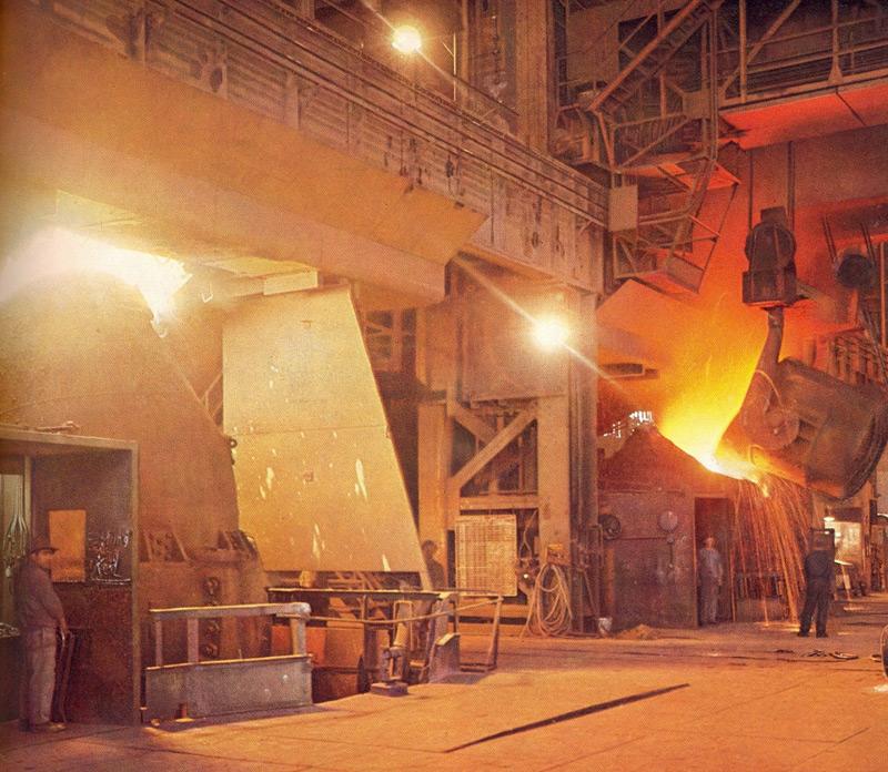 historische Aufnahmen, voestalpine: LD-Stahlwerk I