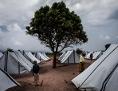 Camp für Binnenflüchtlinge in Vanduzi, Mosambik, Dezember 2016