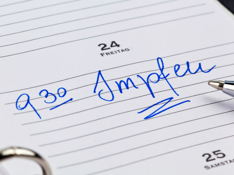 Impfen im Kalender