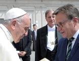 Günther Platter und Papst Franziskus