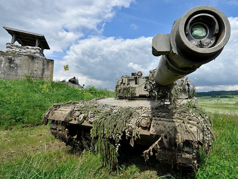 Panzer am Truppenübungsplatz in Allentsteig