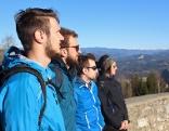 Das Wanderteam: Heimo Neumaier, Valentin Bürgschwendner, Hannes Jandl, Katrin Goriupp