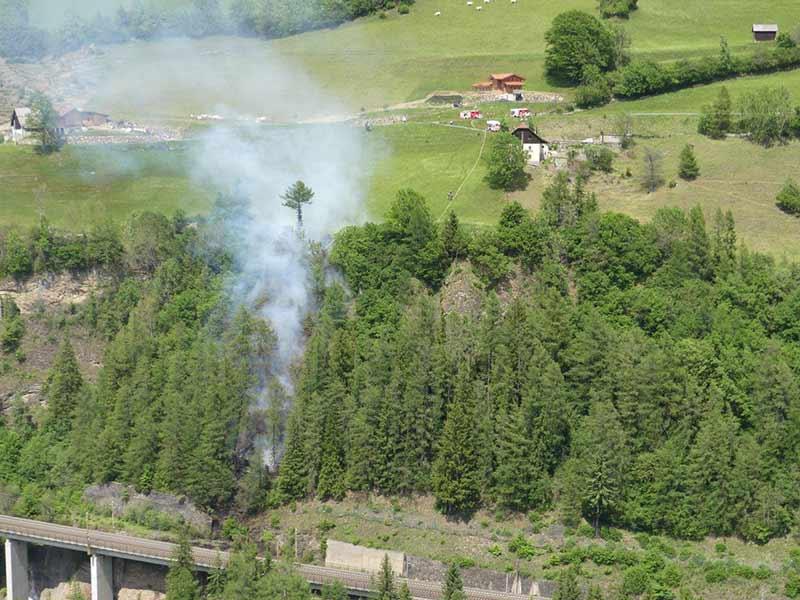 Böschungsbrände Tauernbahn