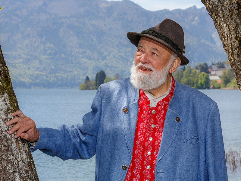 Sepp Forcher am Mondsee
