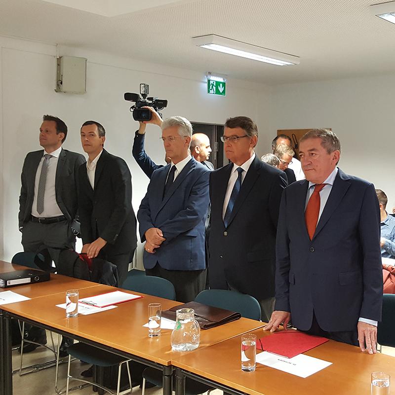 Heinz Schaden Othmar Raus vor Gericht