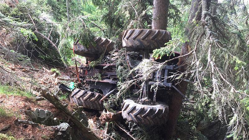 Abgestürzter Traktor Stall im Mölltal
