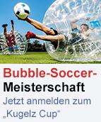 Bubble Soccer Ankündigung