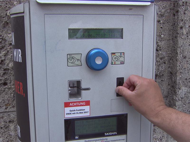 Parkgebührenautomat in der Stadt Salzburg