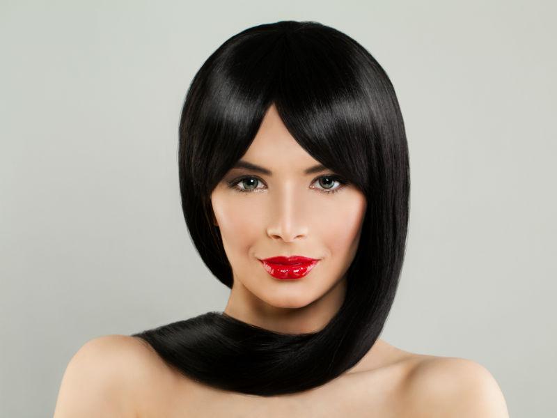 Frau Haare langes Haar