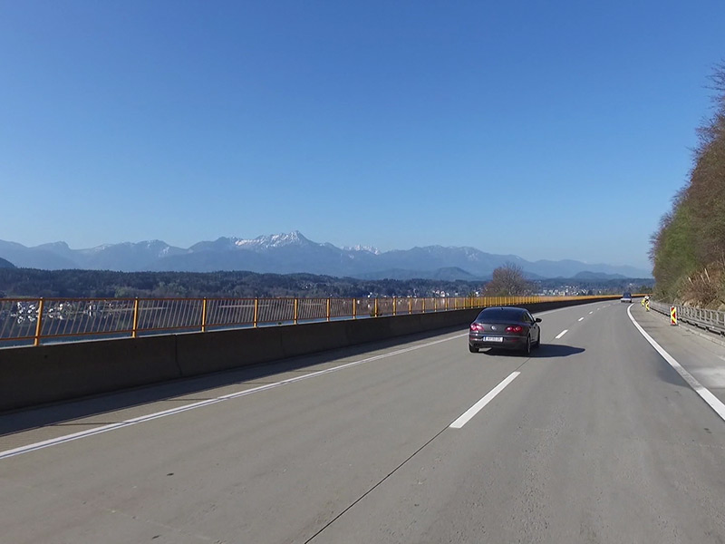 Wörtherseeautobahn Tempo 100 Panorama A2