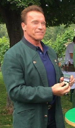Hermann Schützenhöfer. Arnold Schwarzenegger und Michael Schickhofer