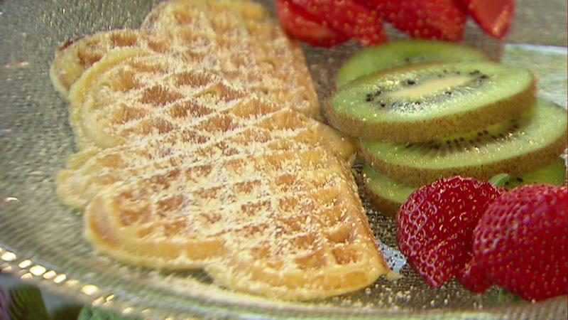 Topfenwafferl mit Erdbeeren