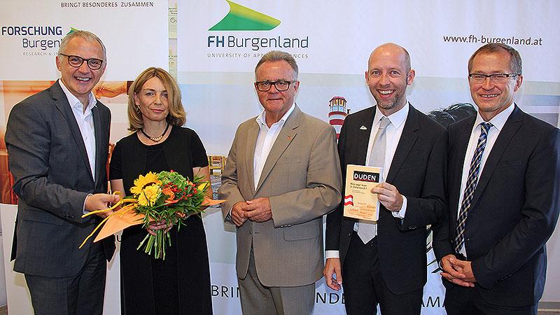Georg Pehm, Silvia Ettl-Huber, Hans Niessl, Marcus Keding, Hans Peter Rucker.