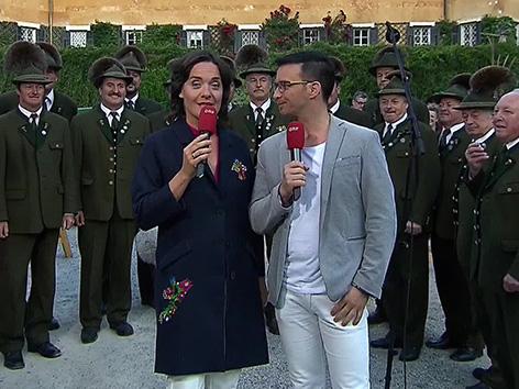 Železna Kapla tv televizija GuMö gumoe jutranja oddaja Eva Pölzl Marco Ventre lovski zbor lovci