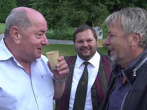 Železna Kapla tv televizija GuMö gumoe jutranja oddaja Franci Sadolschek trio Pegrin Kutschnig Kučnik Marijan Velik