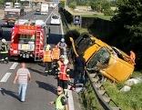 Unfall auf Autobahn