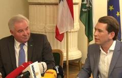 Pressekonferenz LH Schützenhöfer und Minister Kurz