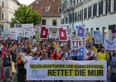 Demonstration Murkraftwerk Graz