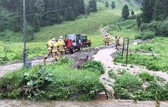 In Obertauern war die Feuerwehr ebenfalls im Einsatz