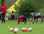 Fußballer von Red Bull Salzburg im Trainingslager