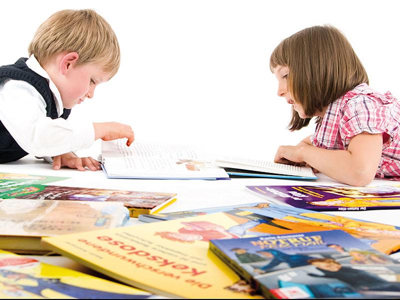 Ammerers Kinder beim Lesen